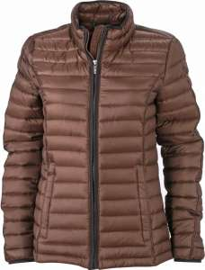 Damen Daunen Jacke JN 1081 James & Nicholson coffee