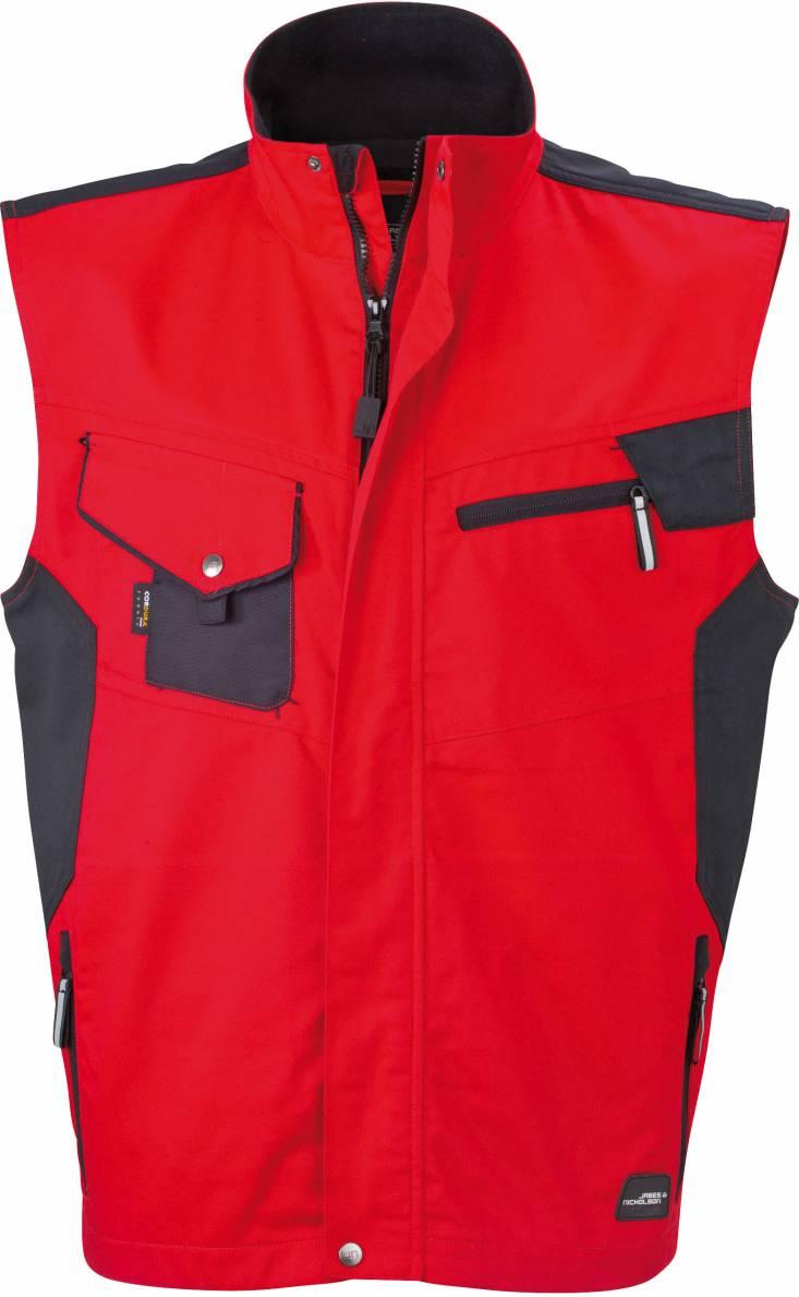 James+Nicholson Herren Bodywarmer Herren Workwear Fleece Giletweste
