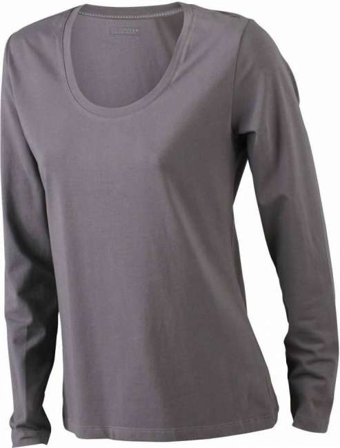 Damen Stretch T-Shirt langarm JN 927 James & Nicholson ...