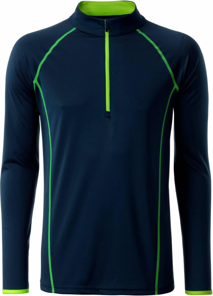 JN498 James /& Nicholson Herren Langarm Funktions-Shirt