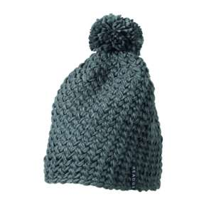 Crocheted Cap with Pompon iron grey