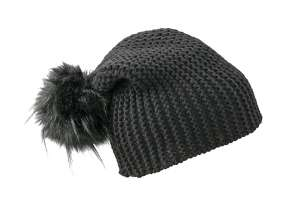 Coarse Knitted Hat black
